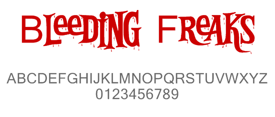 Bleeding font