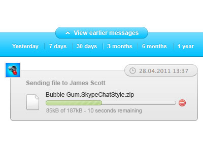 Bubble Gum – Skype Theme