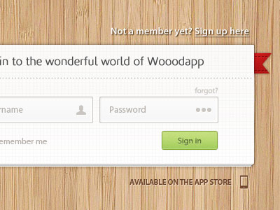 Wooodapp Sign in Page