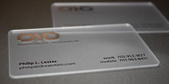 dreamten studios business card