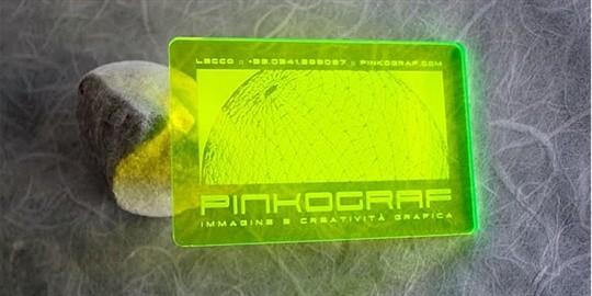 plexiglass business card