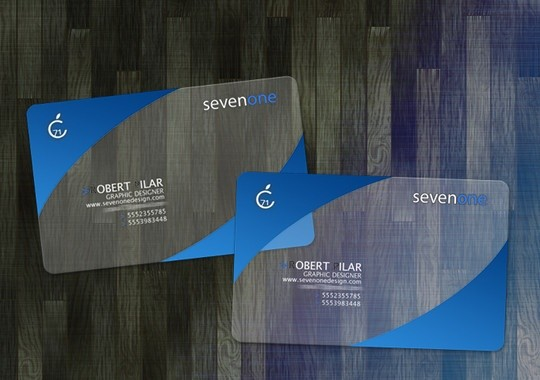 seven one business card