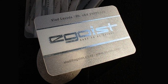 hot foil egoist business card
