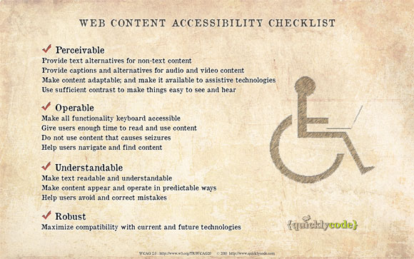Web Accessibility cheat sheet