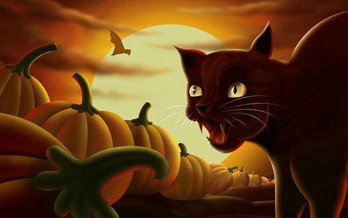 Halloween Digital Illustration Wallpaper