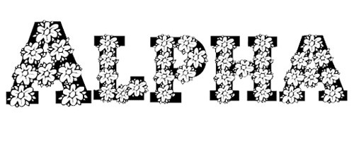 Alpha Flowers font