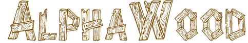 AlphaWood Texture Font