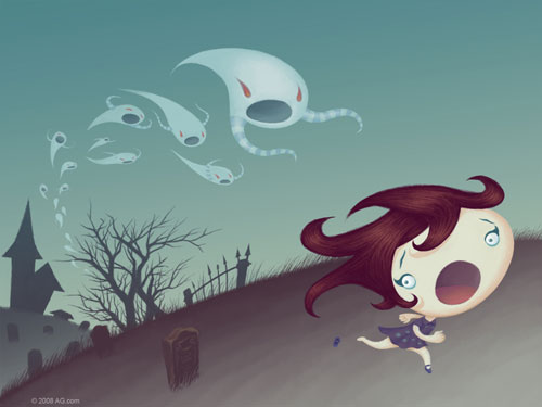 Halloween Wallpaper - Ghostly Escape