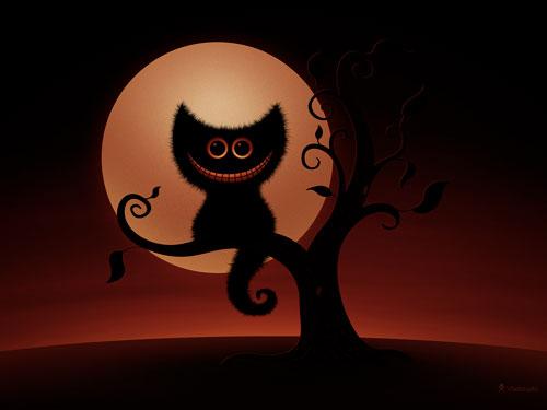 A Cheshire Kitten - Halloween Night