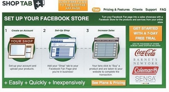 ShopTab eCommerce Shopping Cart Apps for Facebook