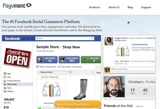 Payvment eCommerce Shopping Cart Apps for Facebook