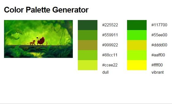 Use a Color Palette Tool