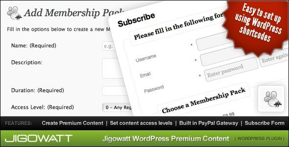 WordPress Premium Content membership plugin
