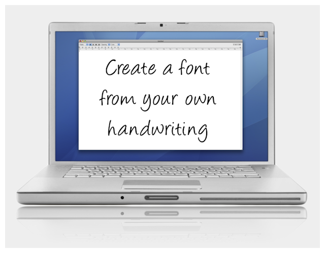 how to create your own font on mac