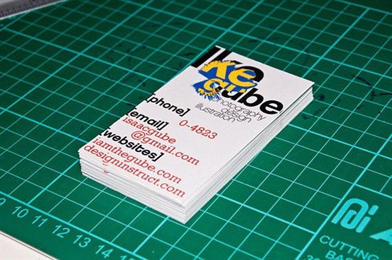 make a swiss design inspired business card