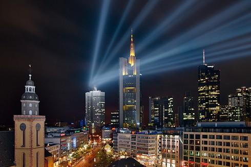 frankfurt skyline with an extra