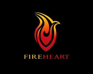 Fire Heart Logo Design