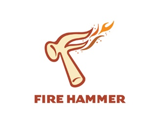 Fire Hammer Logo Design