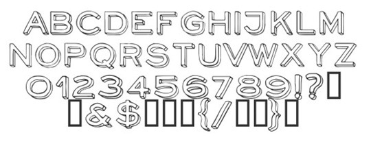 neoretrodraw font