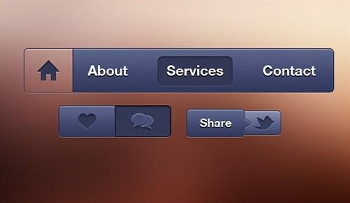 button bundle psd web element