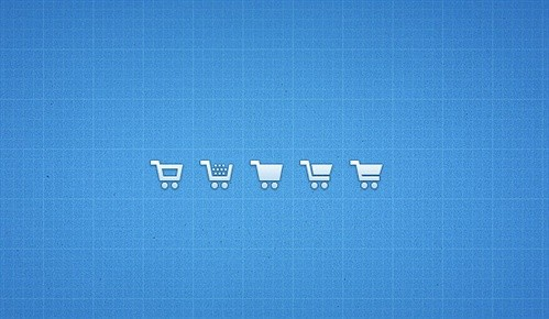 shopping cart icons psd web element