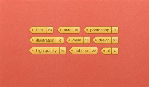 little tags psd psd web element