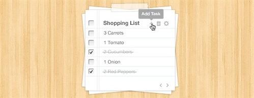 task list web app psd web element