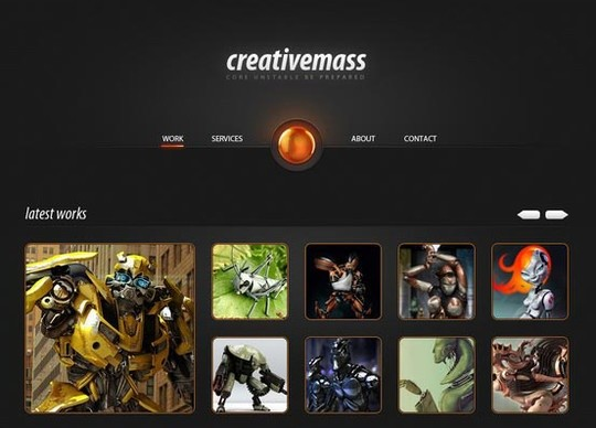 creative mass a stunning one-paged website template (psd)