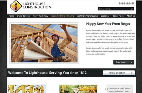 lighthouse - free psd website template