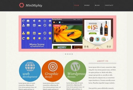 minimighty - minimal website template (psd)