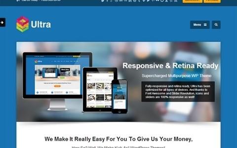 ultra responsive multipurpose wordpress theme