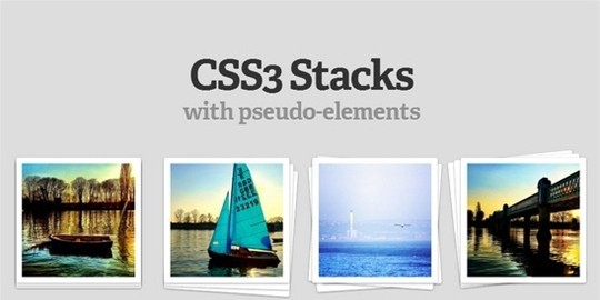 awesome css3 images stacked elements