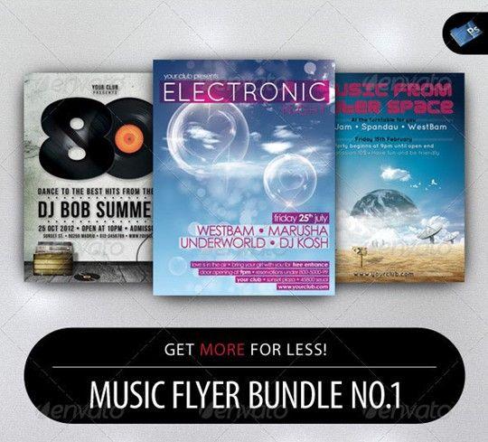 music flyer bundle no.1
