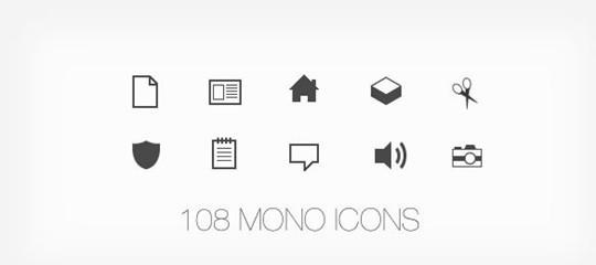 108 mono icons