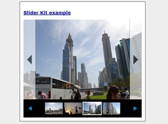 how to create animated photo gallery using jquery (slider kit)