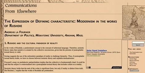 the postmodernism generator