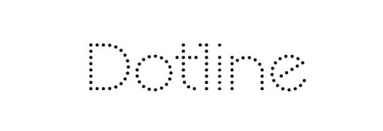 dotline font