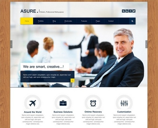 asure – multi purpose psd template