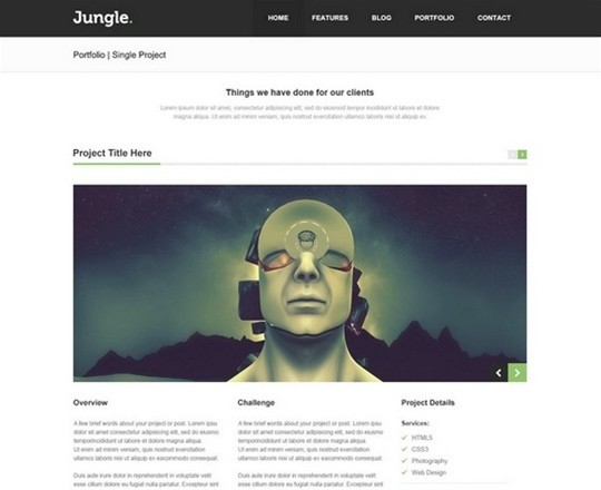 jungle unique multi – purpose psd template