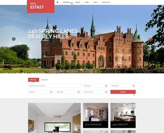 realestast – real estate psd template