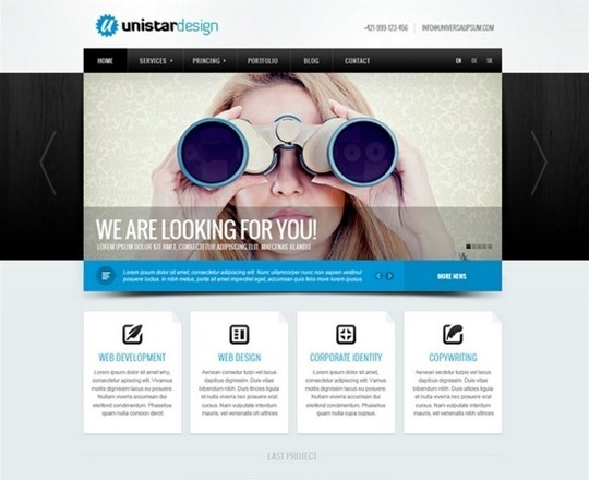 unistar design psd template
