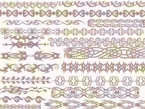 henna tattoo borders