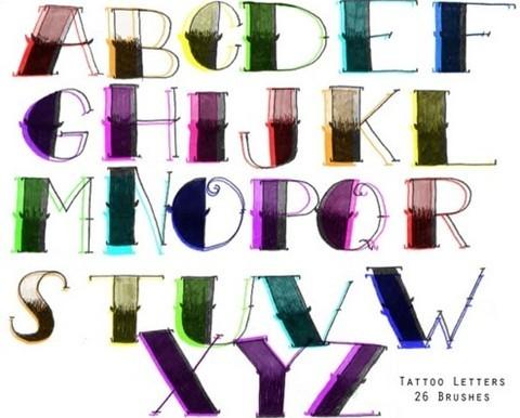 tattoo letter brushes