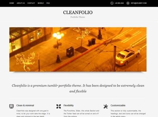 cleanfolio – a clean tumblr portfolio theme
