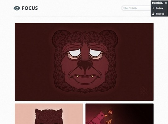 focus – a minimalistic tumblr theme
