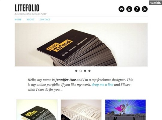litefolio – portfolio theme for tumblr