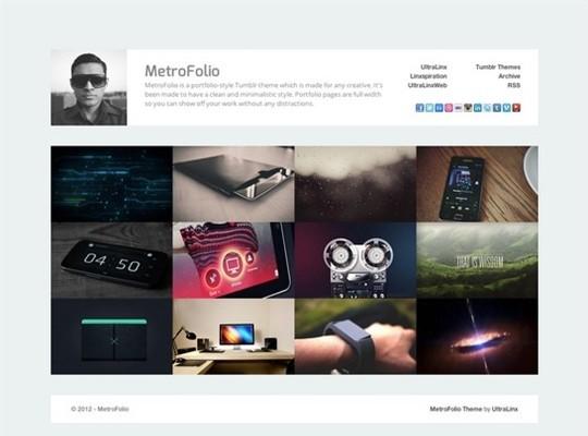 metrofolio – clean portfolio style tumblr theme