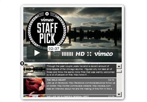vimeo seo user playlist for wordpress