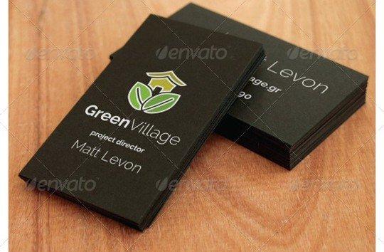 3 black business card mockups