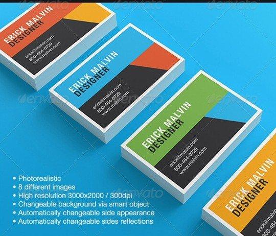 business cards mock-up [8.5×5.5 cm]